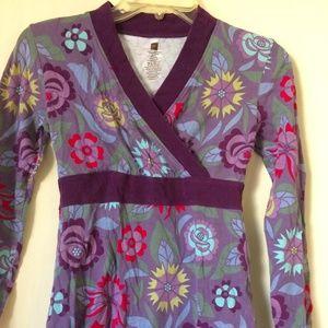 Girls Print Dress kimono style wrap